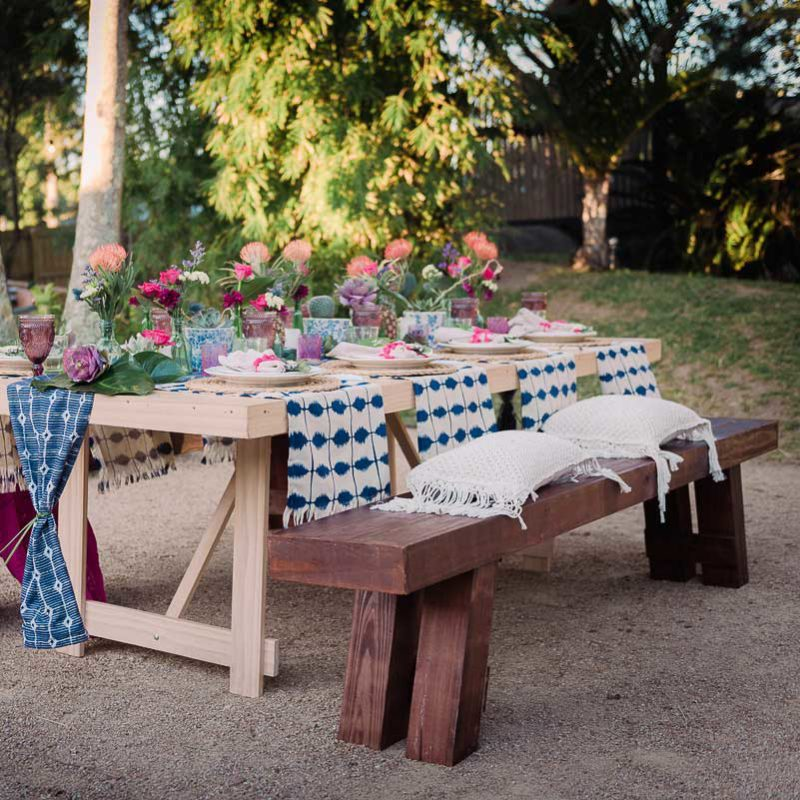 timber-bench-seat-wedding-hire