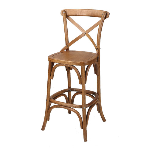 Classic Cross Back Bar Stool 2 The One Day House