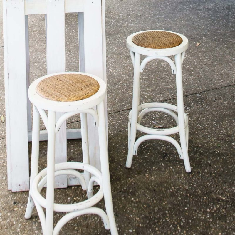 Wedding Hire Bentwood Stool