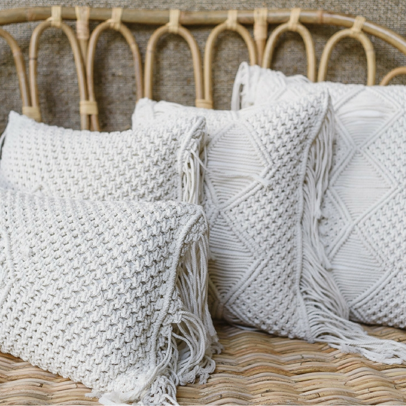 Cushions - Assorted Macrame