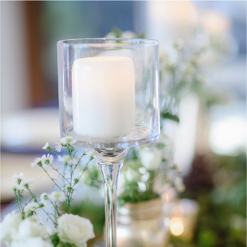 Glass Stemmed Candle Holders