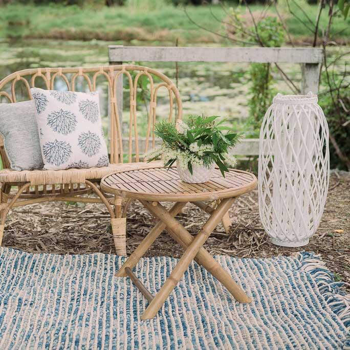 Blue & White Hamptons Rug