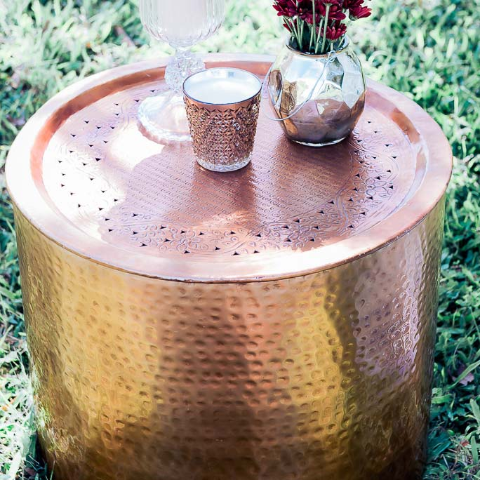 Copper Kettle Drum Coffee Table: Copper Drum Coffee Table