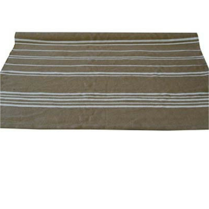 Striped Rug Taupe & White