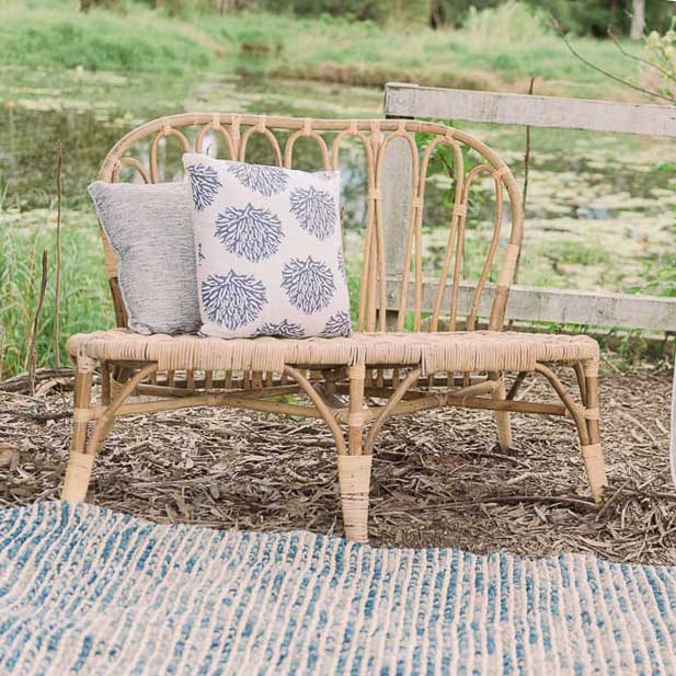 Rattan Two Seater Wedding Furniture Hire