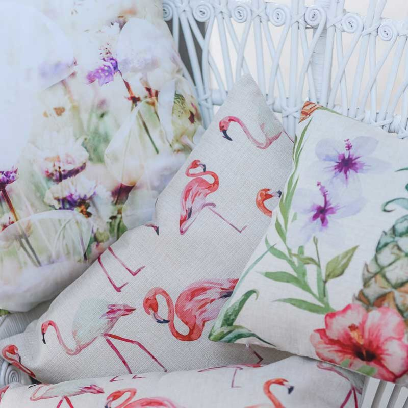 tropical cushion wedding hire