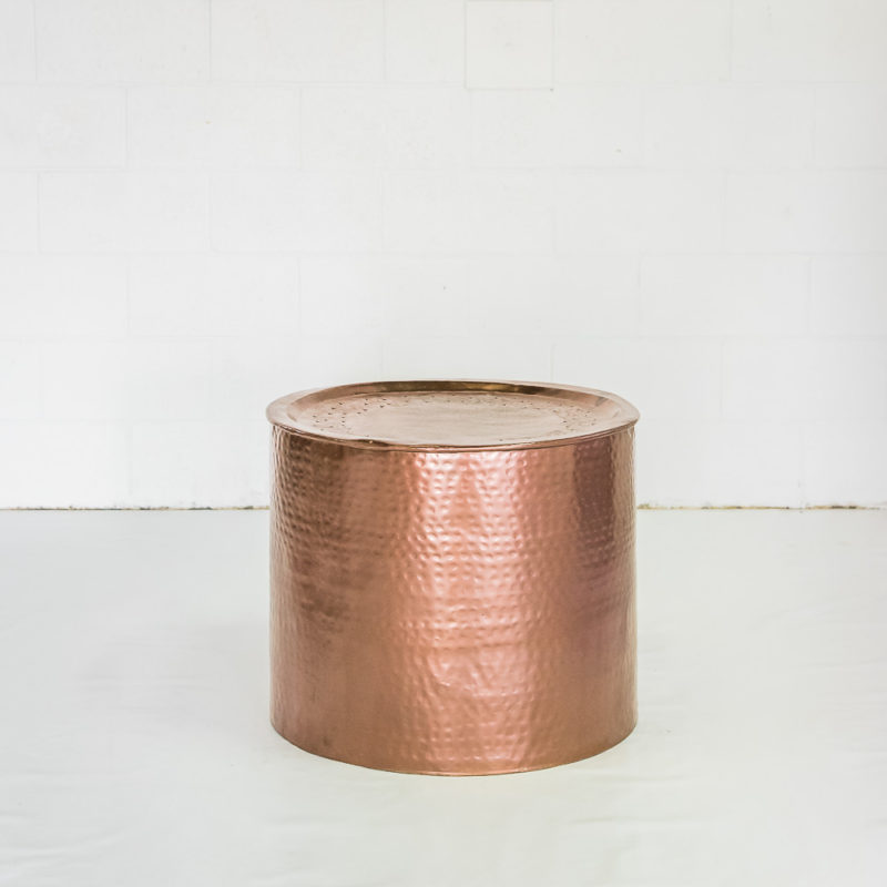 Copper Drum Coffee Table The One Day House Wedding Event Hire