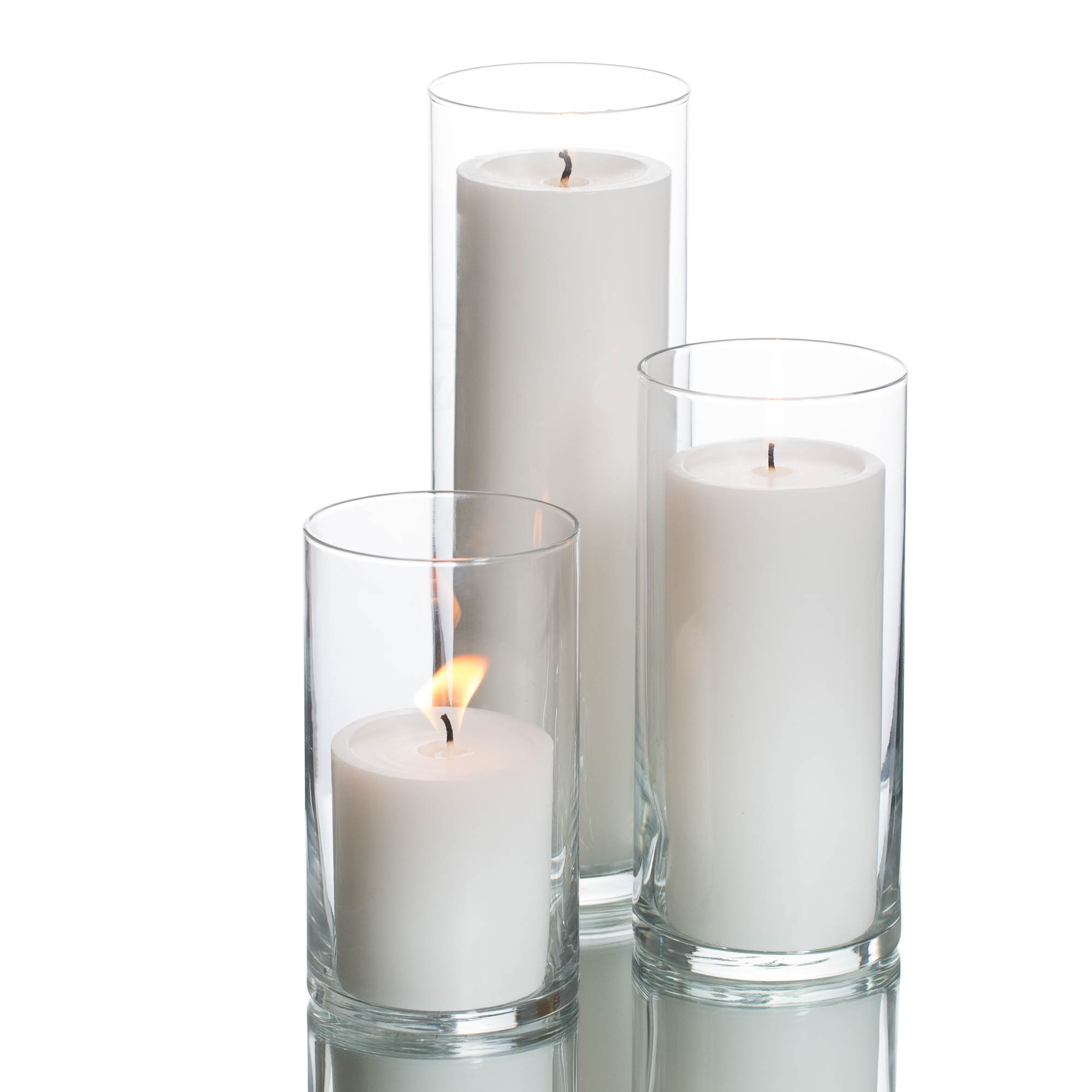 vase centerpiece set tall floating candles of eastland cylinder richland white with vases edit